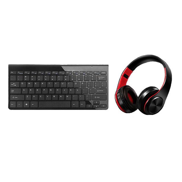 teclado e auscultadores / keyboard and headphones